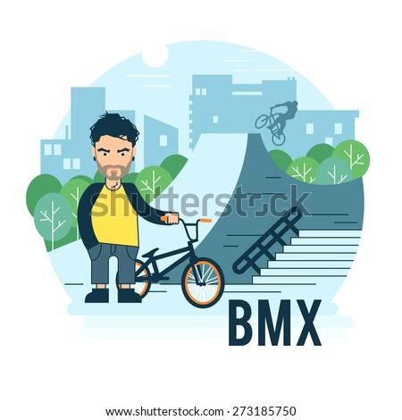 skate park vector illustration