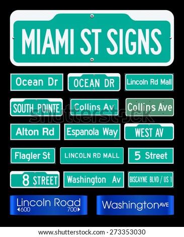 miami street signs