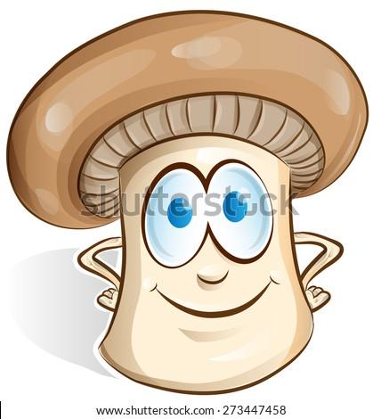 mushroom cartoon isolated on