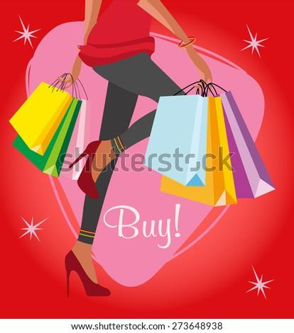 shopping lady background