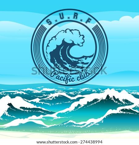 surf club logo or emblem
