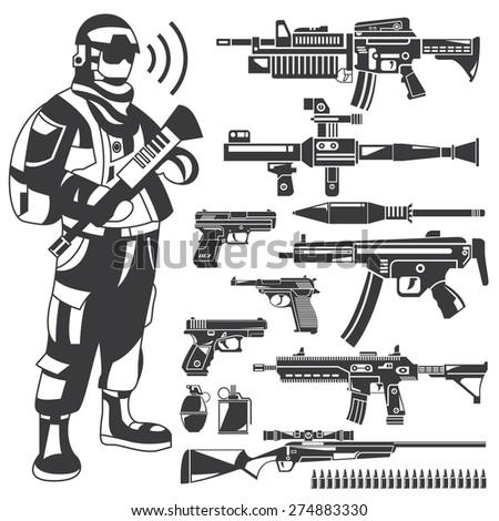 soldier  policeman  gun  weapon