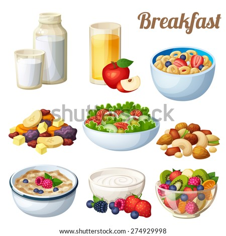 breakfast 2 set of cartoon