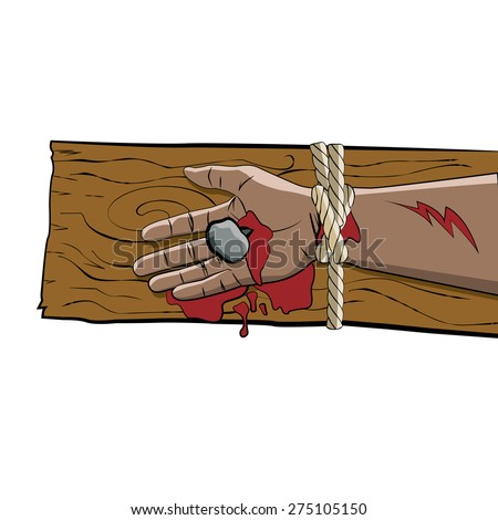 the arm of jesus christ  tied