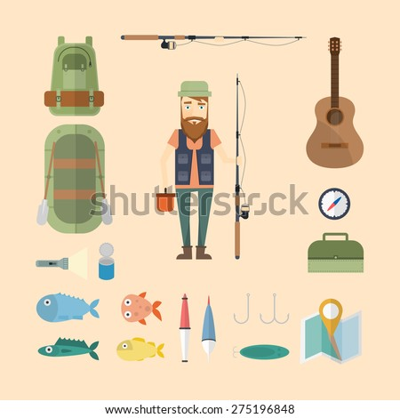 fisherman set  backpack