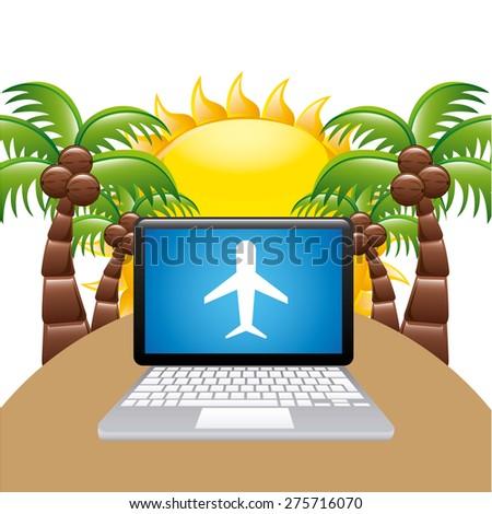 airplane travel design  vector