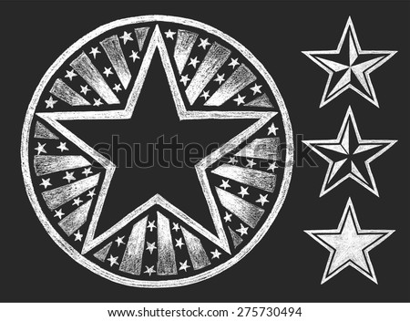 vector star shape drawn on the