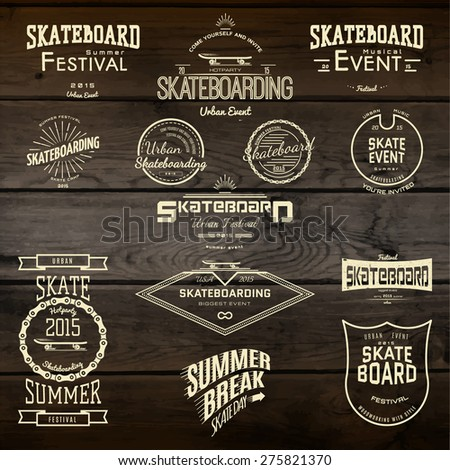 skateboard badges logos and