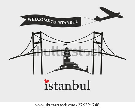 welcome to istanbul city plane