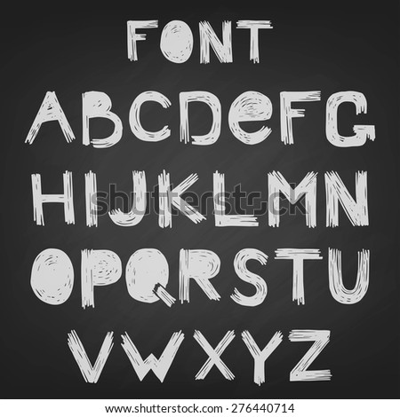 font scratched vector