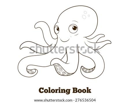 coloring book octopus cartoon