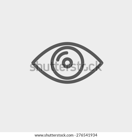 eye icon thin line for web and