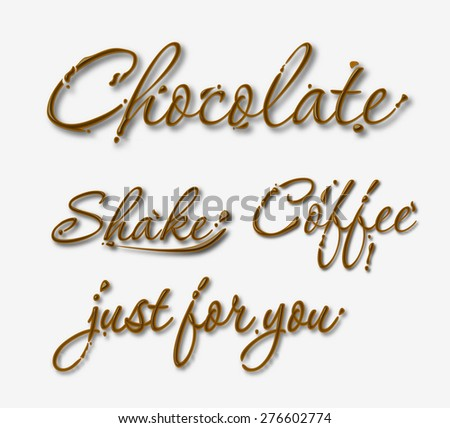 chocolate text made of