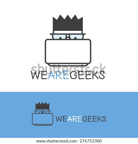 vector creative geek logotype