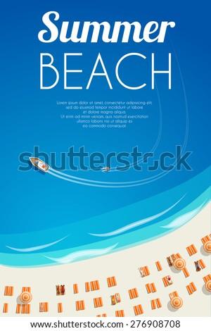 sunny summer beach background