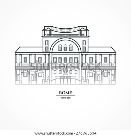 vector illustration of rome