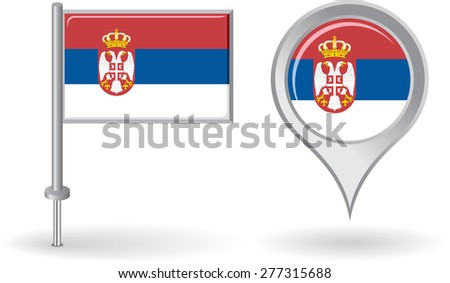 serbian pin icon and map