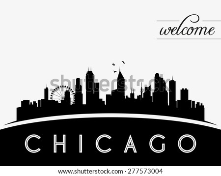 chicago usa skyline silhouette