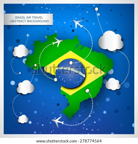 brazil air travel abstract