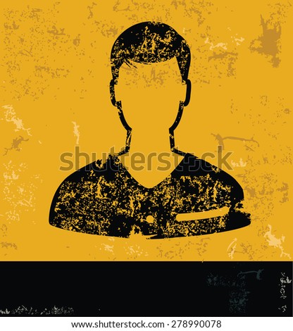 man design  concept on yellow