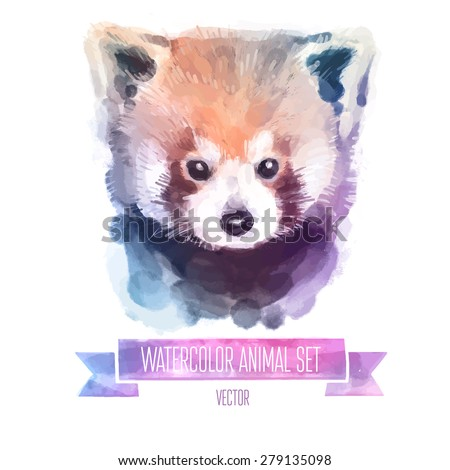 vector set of animals red