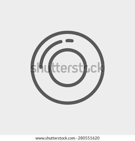 record button icon thin line