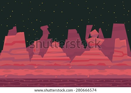 seamless night desert death