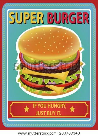 super delicious burger retro