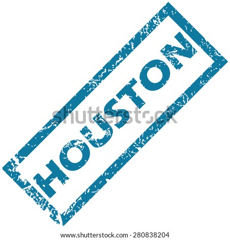 blue rubber stamp with city
