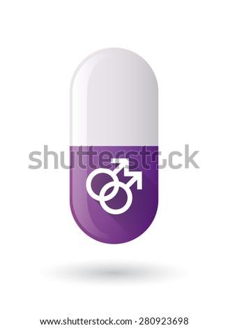 illustration of a purple pill