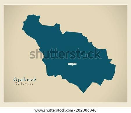 modern map   gjakove rs