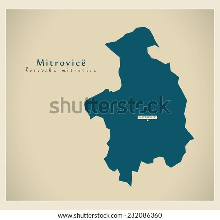 modern map   mitrovice rs