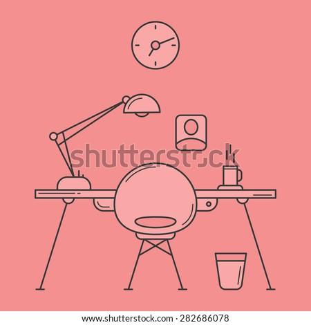 work place  minimalistic design