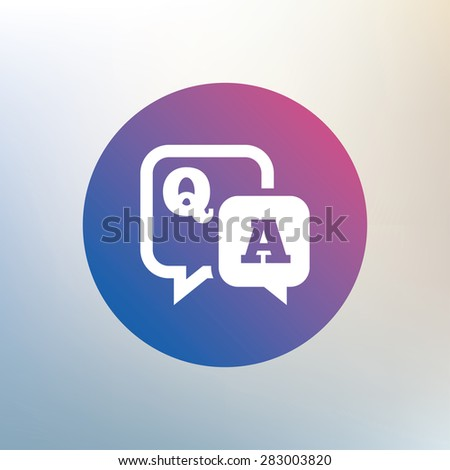 question answer sign icon q a