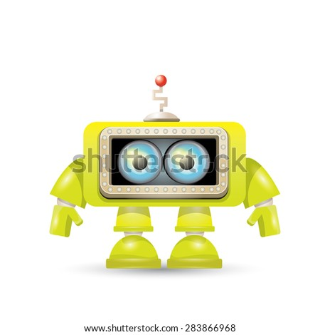 cartoon character cute robot