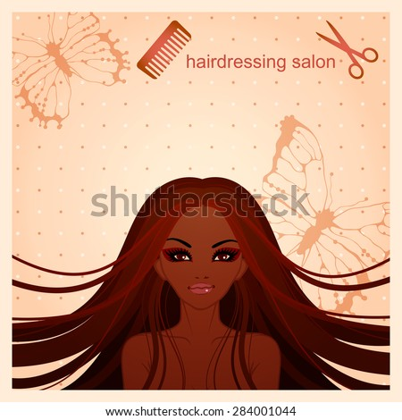 vector illustration of afro