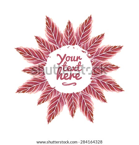 vector watercolor flower made