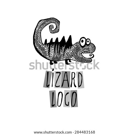 lizard logo vector