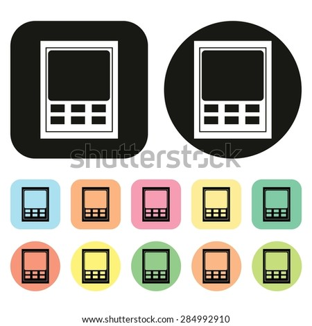 time attendance system icon