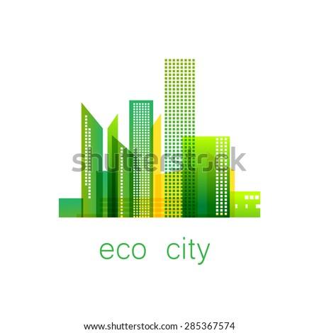 eco city   template logo eco