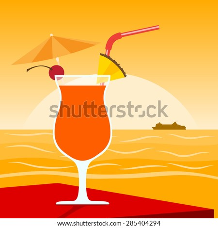 picture of a cocktail standing