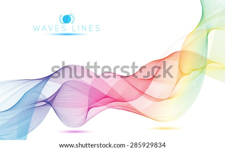 rainbow waves colorful