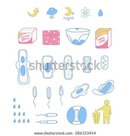 set of sanitary napkin panty