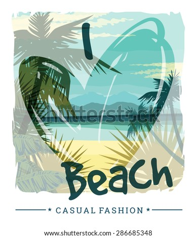 tropical beach summer print
