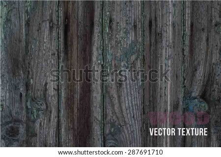 vector old wooden fence with