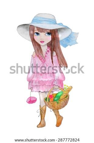 girl with basket original