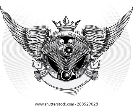 winged engine emblem