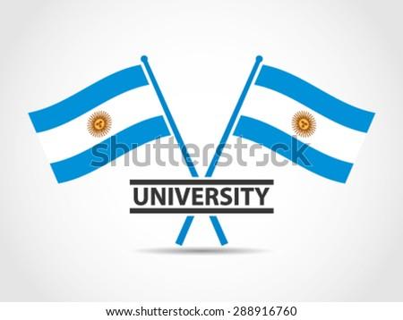 argentina emblem crossed flags