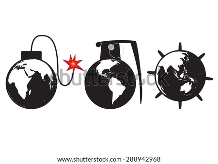 planet earth as a globe bomb
