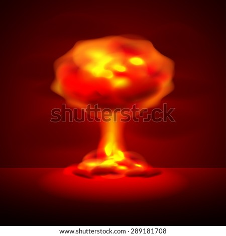 nuclear explosion on dark photo